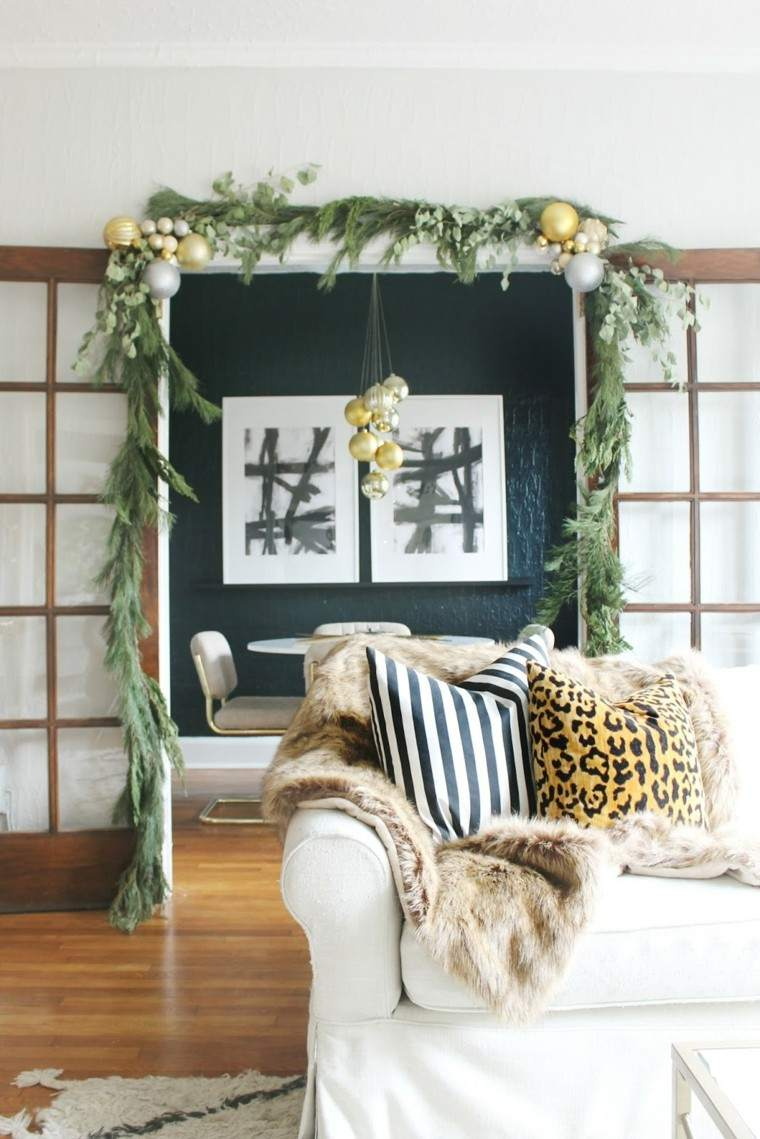 salon plantas pino sofa pieles