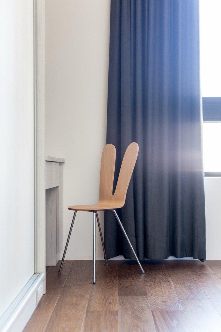 silla diseño habitacion detalles cortinas