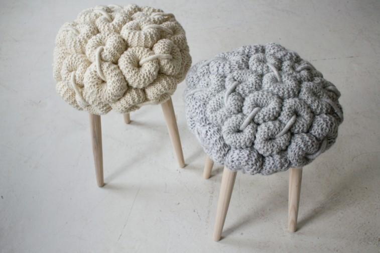 sillas taburetes fundas lana gorros de lana