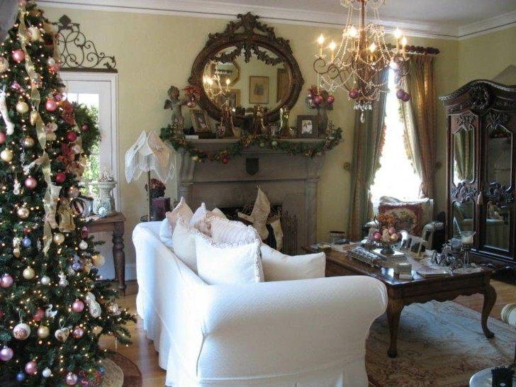 sofa color blanco arbol navidad