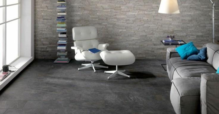 suelo moderno baldosas grises