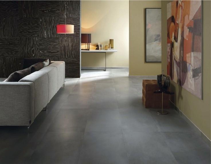 Azulejos grises para suelos y paredes 50 modelos for Cocinas con suelo gris oscuro