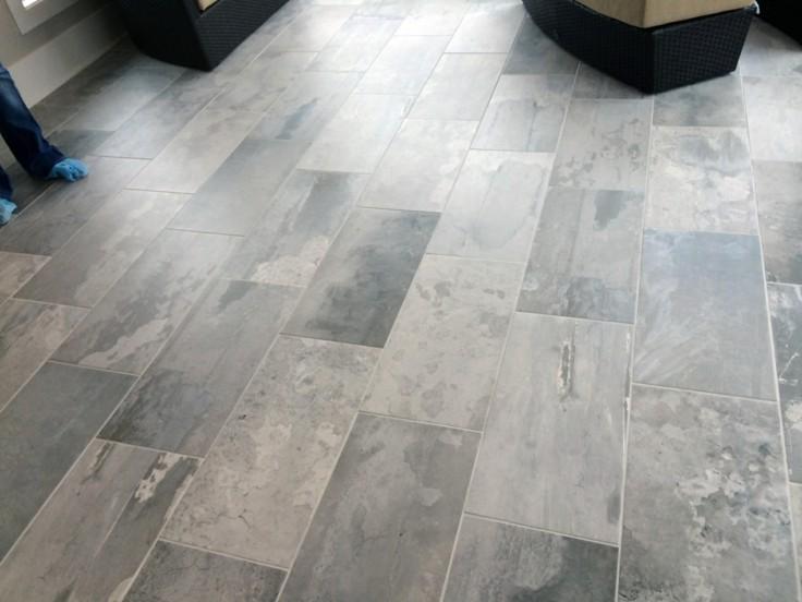 Azulejos grises para suelos y paredes 50 modelos - Modelos de baldosas para banos ...