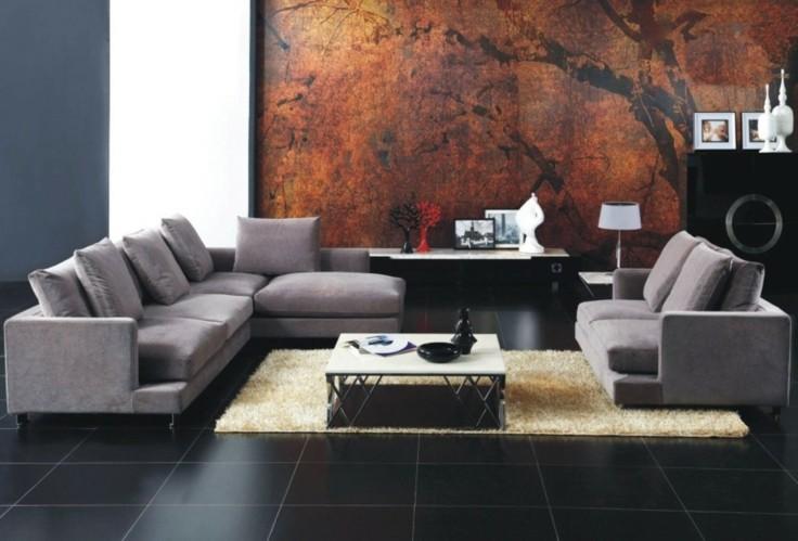 Salon Gris : Azulejos grises para suelos y paredes modelos