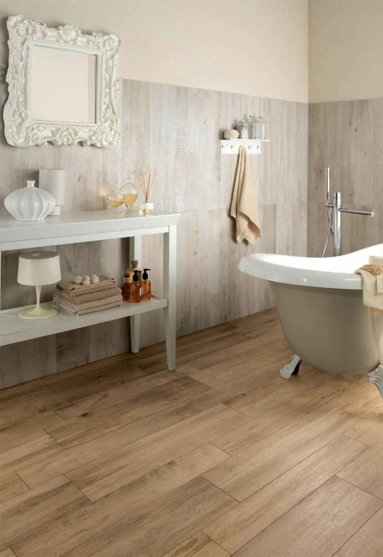 suelos de madera interiores baño cuadros