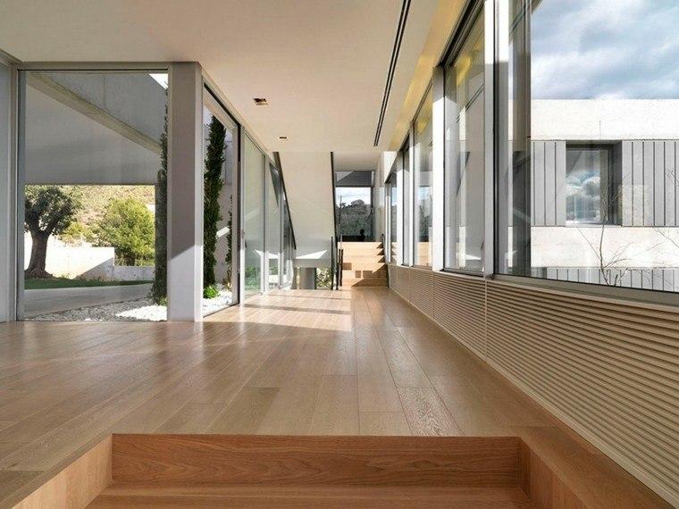 suelos de madera interiores casona escalones