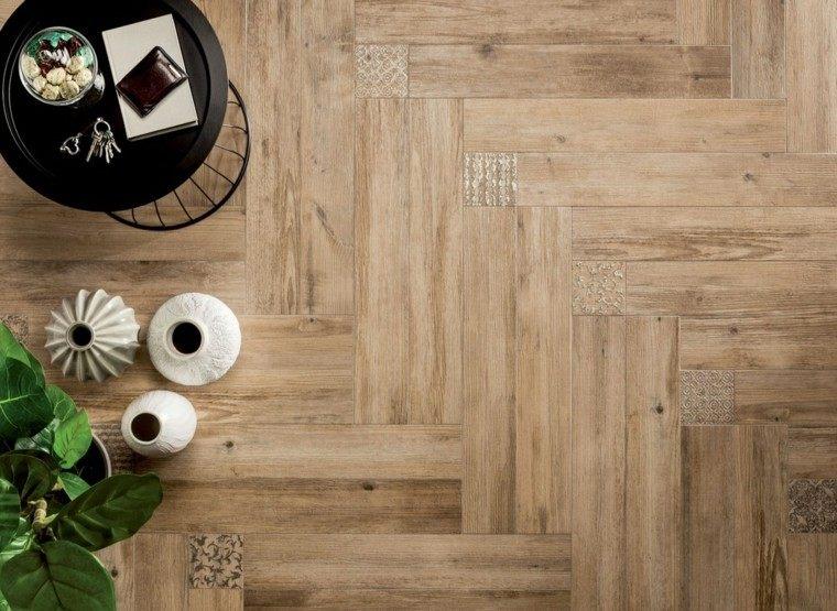 suelos de madera interiores combinado metal