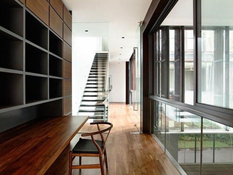 suelos de madera interiores forja arquitectura metal