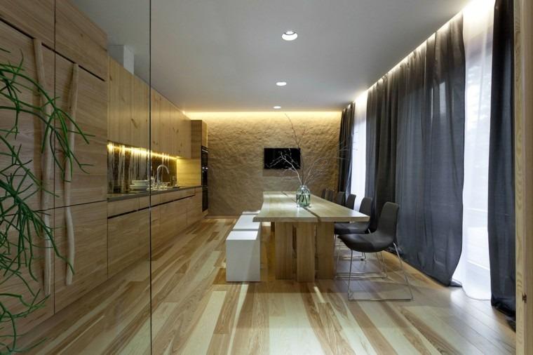 suelos de madera interiores forja comedor plantas