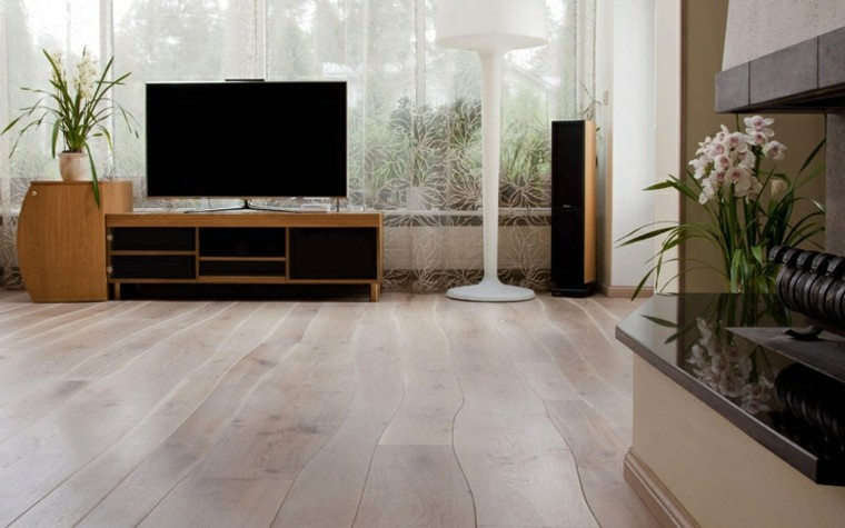 suelos de madera interiores forja curvado moderno lamparas