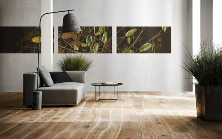 suelos de madera interiores forja curvado lamparas