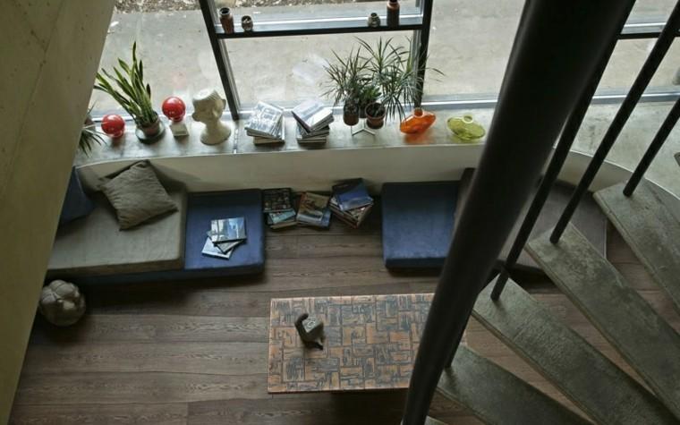 suelos de madera interiores forja escalera plantas