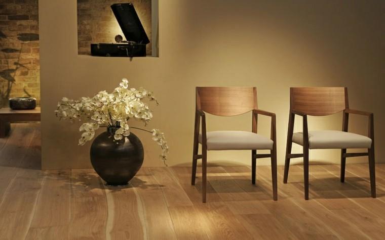 suelos de madera interiores forja minimalista moderno