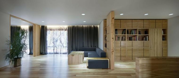 suelos de madera interiores forja moderno sillones
