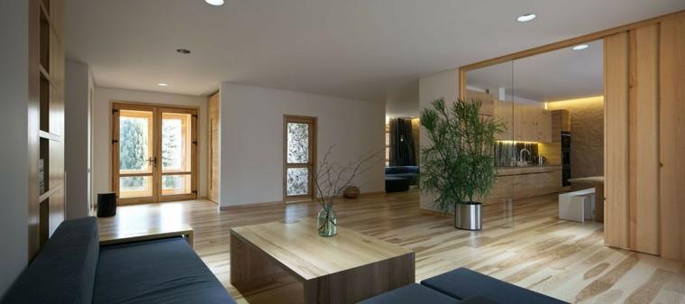 suelos de madera interiores forja sillones plantas