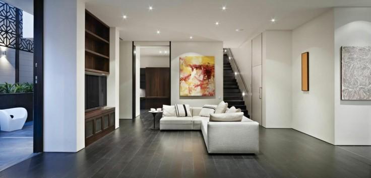 Azulejos grises para suelos y paredes 50 modelos - Suelos para salones ...