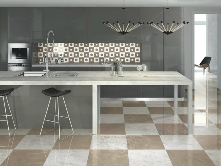 Azulejos grises para suelos y paredes 50 modelos for Revestimiento de cocina con porcelanato