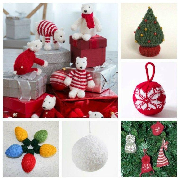 tejer detalles navidad esferas bombillas