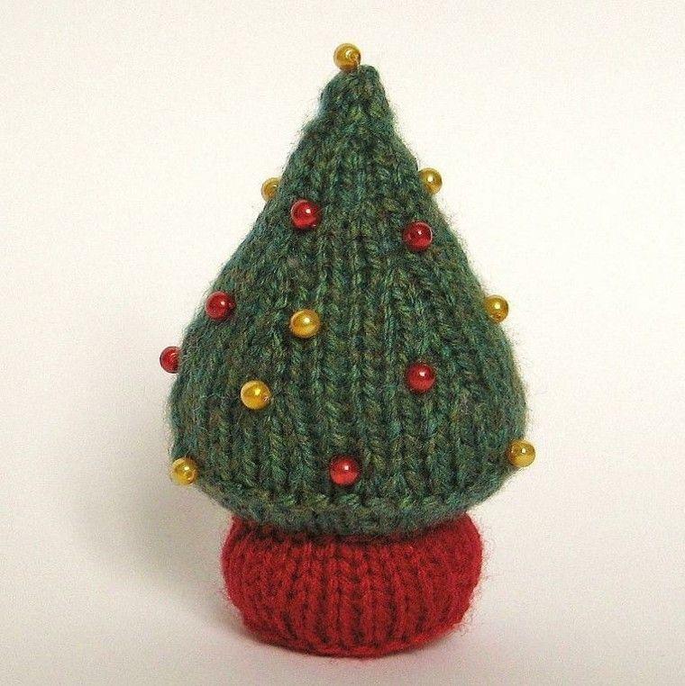 tejer detalles navidad verde perlas