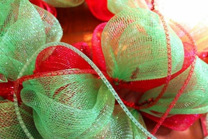 tela gasa color rojo verde