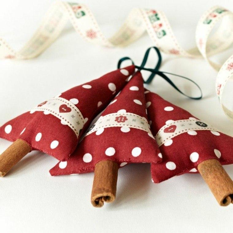 telas recortes pinos olor colgantes