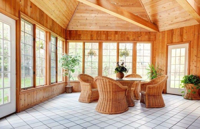 terraza cubierta minmbre casetas madera