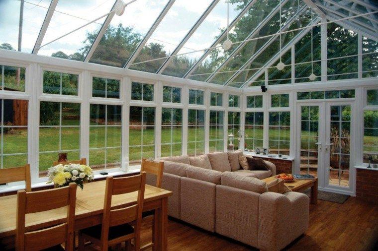 terraza acristalada  techo cristal