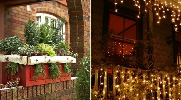 Decorar terrazas y balcones en navidad 25 ideas for Luces led para terrazas