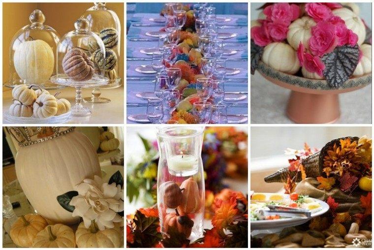 varios diseños decoración otoño