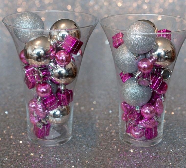 vasos cristal flores esferas vidrio
