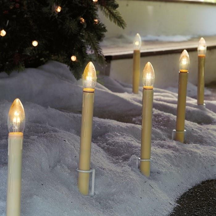 velas falsas luces suelo jardin