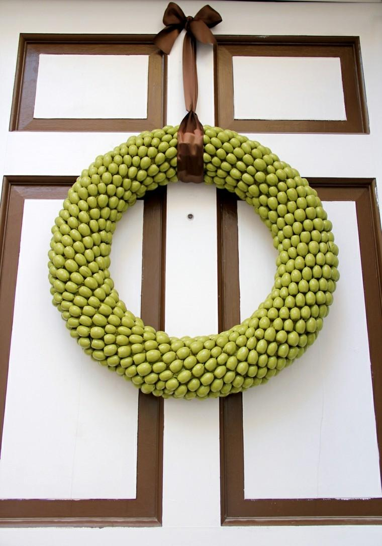 verdes corona detalles ideas puerta