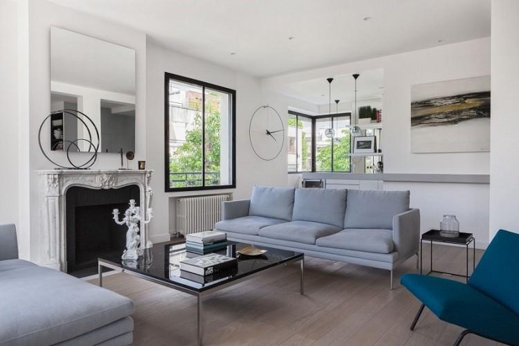 Agence Frédéric Flanquart chimenea salon moderno ideas