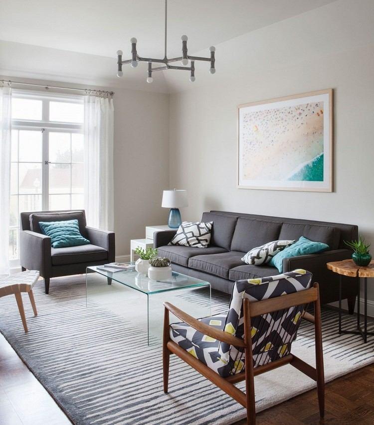 Christy Allen Designs sofas negras cortinas blancas ideas