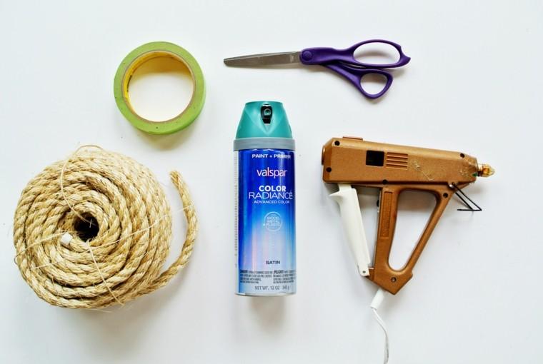 DIY ideas cuerda cesto elementos materiales necesarios