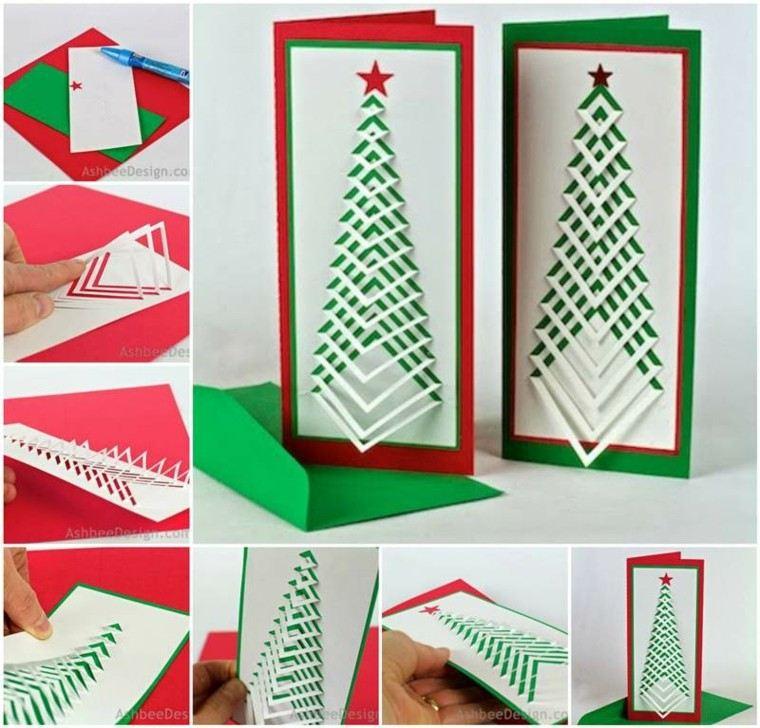 tarjeta abeto cartulina original diseño