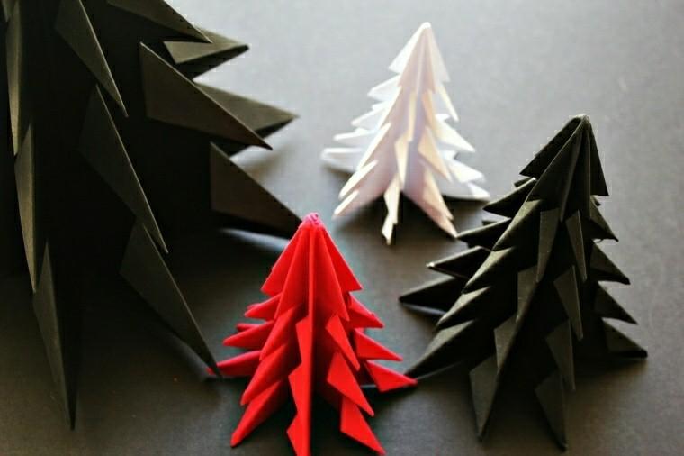 abetos cartulina varios colores origami