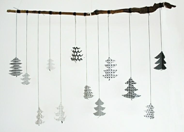 abetos navideños blanco negro ideas
