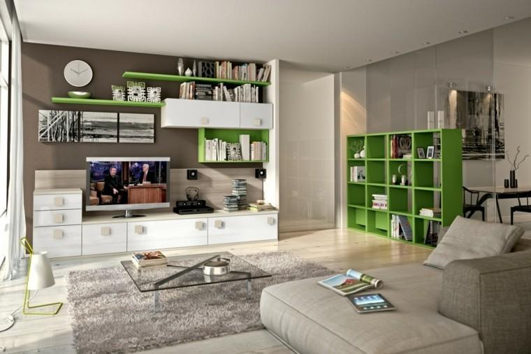 acentos verde sisitema casa ideas