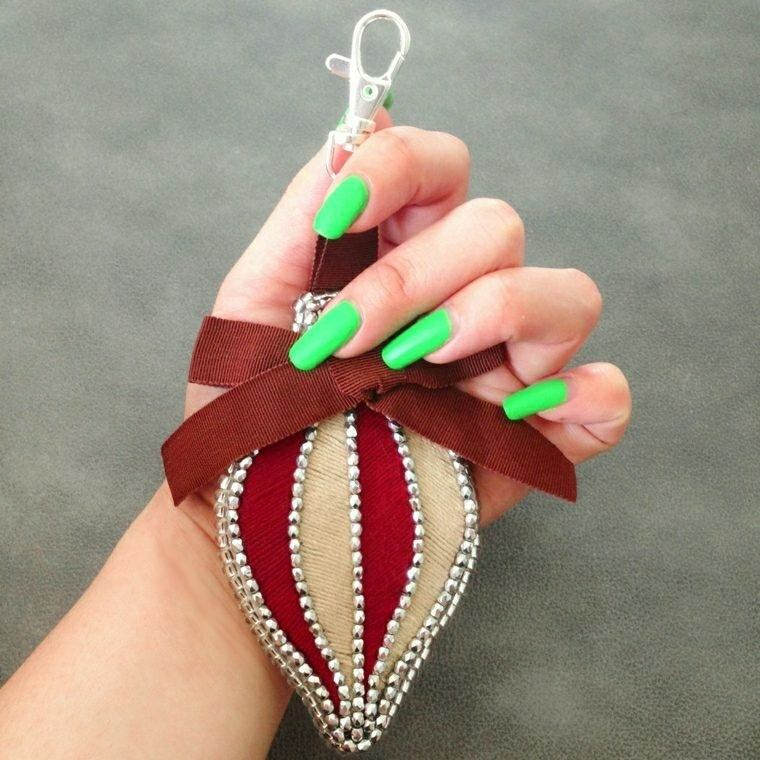 adorno tela uñas verdes ideas