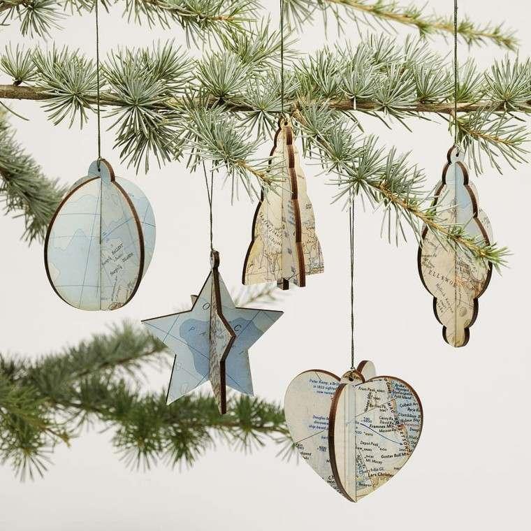 adornos arbol navidad estilo vintage
