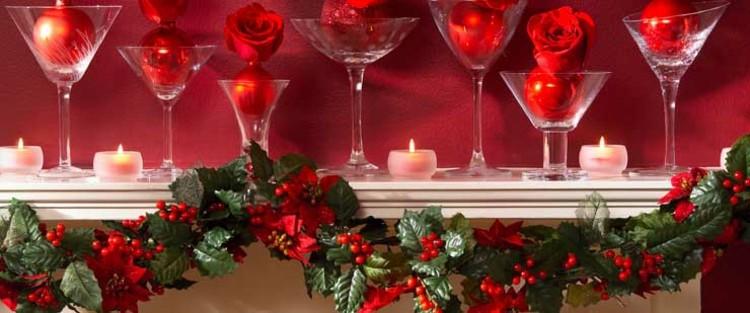 adornos navidad ideas decorativas copas guirnalda