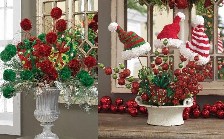 adornos navidad ideas decorativas gorros colores
