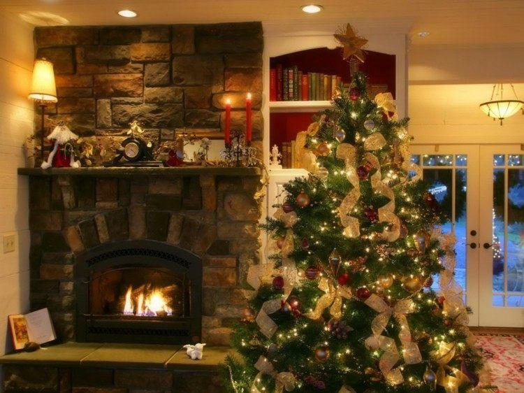 adornos navidad ideas decorativas rocas calido