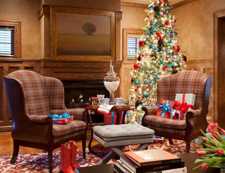 adornos navidad ideas decorativas sofa cuadros