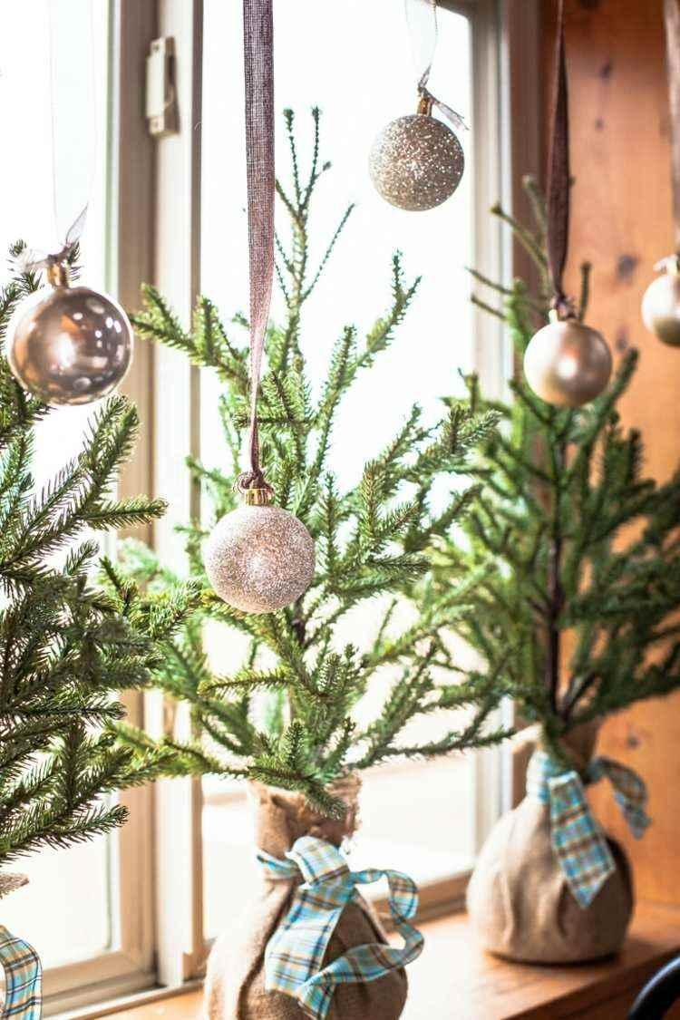 adornos navideños ventanas decoracion estilo