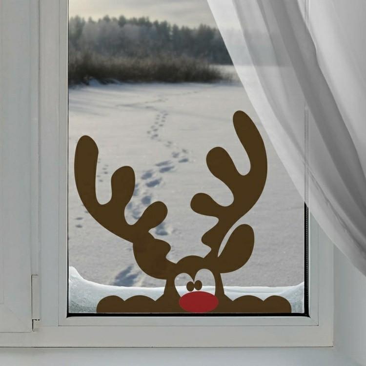adornos navideños ventanas cortinas nieves