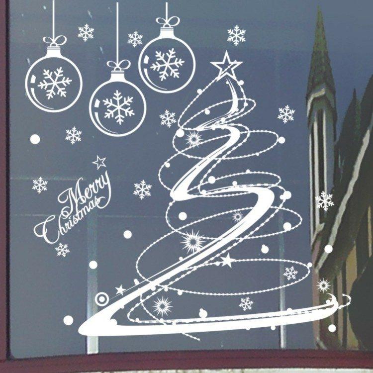 adornos navideños ventanas estilo pegatinas ciudad