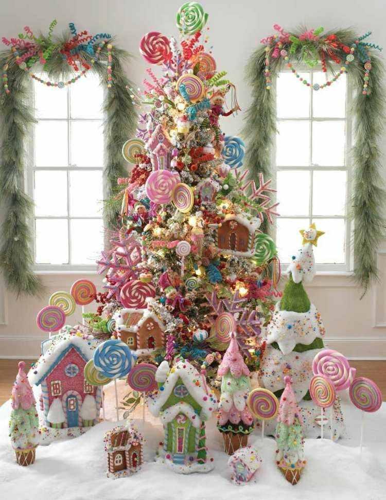 adornos navideños ventanas estilo caramelos