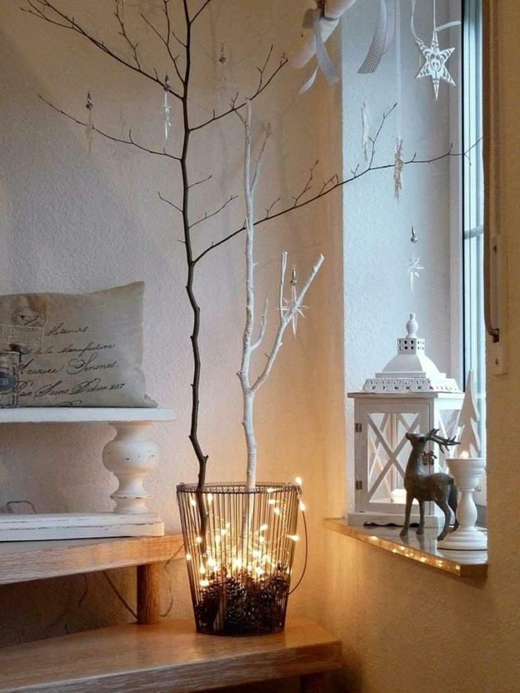 adornos navideños ventanas renos ramas